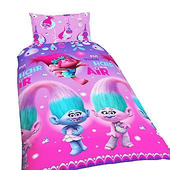 Troll Childrens/Kids offisiell Glow reversibel dynetrekk sengetøysett