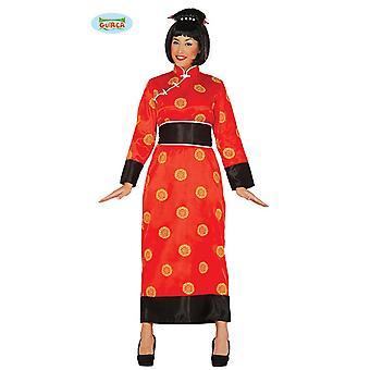 Damas de rojo de China japonesa Japón kimono traje túnica túnica China