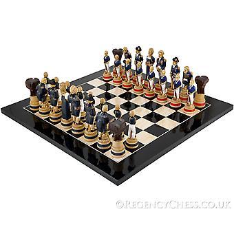 Schlacht von Trafalgar schwarz Anegre Schachspiel