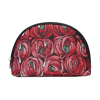 Mackintosh - rose and teardrop cosmetic bag by signare tapestry / cosm-rmtd