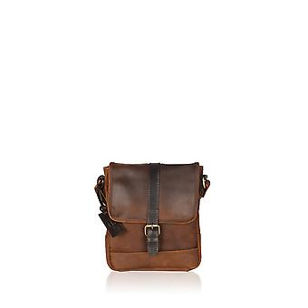 Lattrigg Leather Messenger Bag in Chocolate Brown