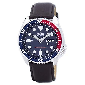 Seiko Automatic Diver ' s 200m forhold mørkebrun læder Skx009k1-LS11 mænd ' s ur