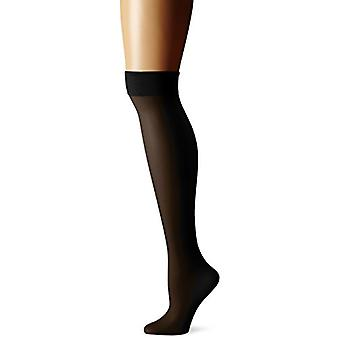 Berkshire Women's Plus-Size Queen All Day Knee High, Fantasy Black, Size 10.0