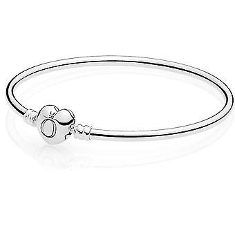 596268 - corazón mujeres plata Pandora pulsera