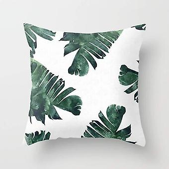 Banana leaf watercolor pattern cushion/pillow