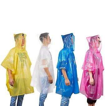 Poncho with hood for sudden precipitation rain poncho (Disposable)