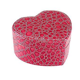 Herzförmige Schmuck-Box - rosa