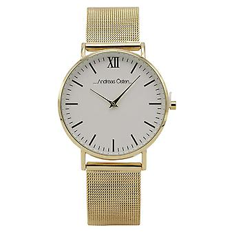 Andreas osten Quartz Analog Woman Watch with AO-130 Stainless Steel Bracelet
