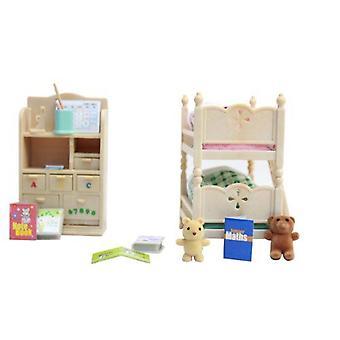 Sylvanian familier-barn ' s soverom møbler leketøy
