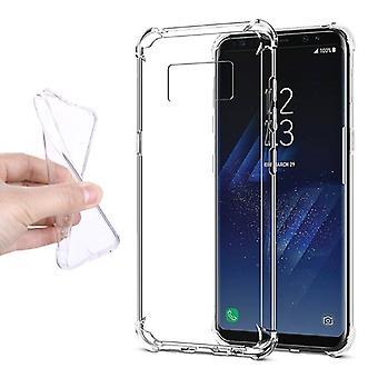 Stuff certificeret® 10-Pak transparent klar silikone taske Cover TPU sag Samsung Galaxy S8 plus