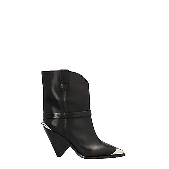 Isabel Marant 20pbo019420p008s01bk Women's Black Leather Ankle Boots