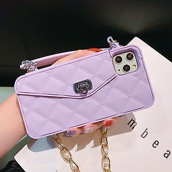 Exklusiv handväska för iPhone 11 med axelrem