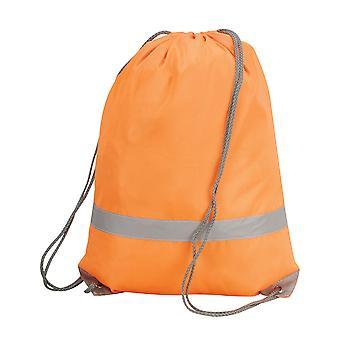Shugon Stafford Drawstring Hi-Vis Tote Bag (13 Litres) (Pack Of 2)