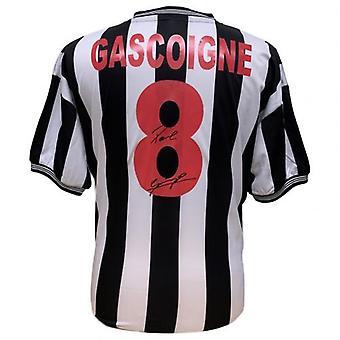 Newcastle United Gascoigne signiert Shirt