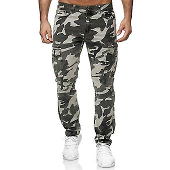 Men's trousers Cargo jogger stretch Camouflage leisure military casual