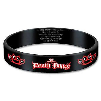 Vijf Finger Death Punch-band-armband band Logo knuckles officiële 10mm Rubber