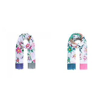 Intrigue Womens/Ladies Floral Sparkle Glitter Print Scarf