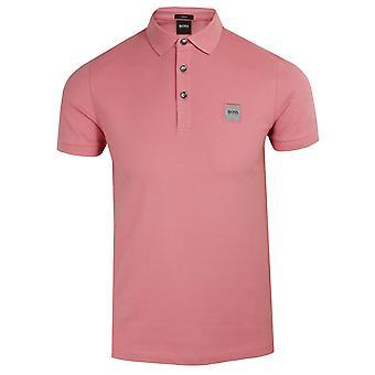 Hugo boss men's pink passenger polo shirt