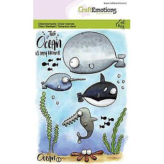 CraftEmotions Clear Stamps A6 - Ocean 1 Carla Creaties