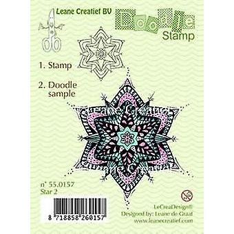 LeCrea Doodle klar Stempel - Stern 2