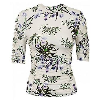 Kenzo Sea Lily Print Ruched Top