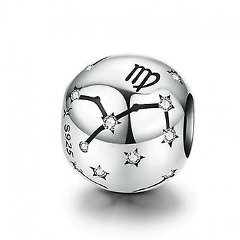 Sterling Sølv Charm Stjernetegn Tegn Jomfru en zirconia - 6184