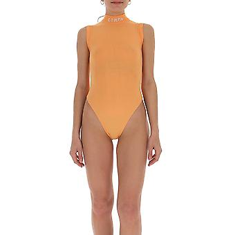 Heron Preston Hwha003r209040071905 Women's Orange Polyester Bodysuit