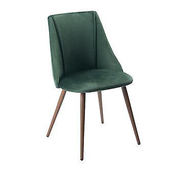 Wood4you - Volta Velvet grüner Essstuhl - Pariso - Low - Sitzhöhe: 41 cm - 2 Stück