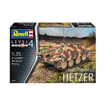Revell 3272 Jagdpanzer 38 (T) Hetzer , Vert, 1:35 Kit modèle en plastique