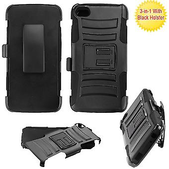 ASMYNA Advanced Armor Stand Case With Holster for 6060C Idol 5 - Black/Black