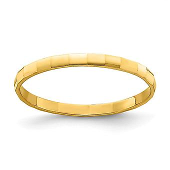 14k Altın Bambu erkek veya kız Yüzük [boyut 3] için - 0,6 Gram