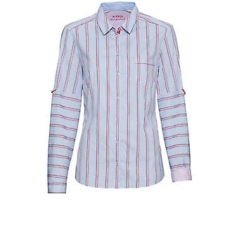 Bianca Blue & Red Striped Shirt