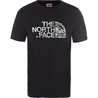 De North Face Woodcut Dome T0A3G1JK3 universele zomer mannen t-shirt