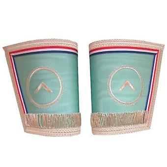 Masonic gauntlets cuffs - embroidered with fringe - worshipful master emulation rite