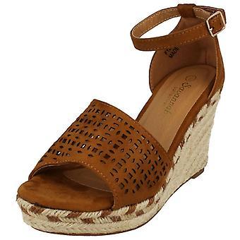 Ladies Savannah Wedge Open Toe Summer Sandals
