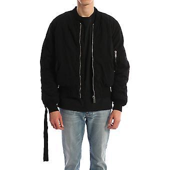 424 0040blk Men's Black Cotton Outerwear Jacket
