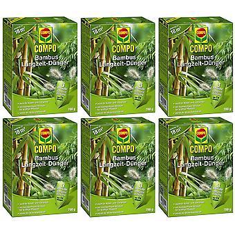 Sparset: 6 x COMPO Bamboo pitkän aikavälin lannoite, 700 g
