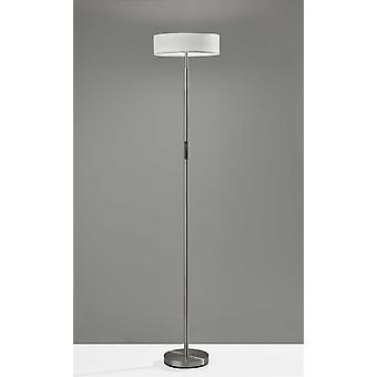 "14"" X 14"" X 71.5"" Brushed Steel LED Torchiere"