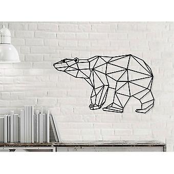 Bear Wall Decoration 1 Czarny kolor z metalu 50x0.16x29 cm