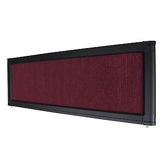 Burgundy Trade Show Display System Optional Header Panel Board Aluminum Frame