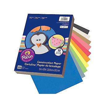 200 Assorted Colour Large A4 Construction or Sugar Paper Sheets for Kids Crafts