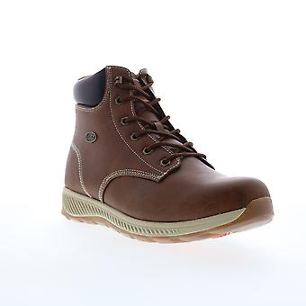 Lugz Hardwood Mens Brown Lace Up Casual Dress Boots