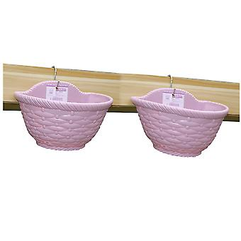 YANGFAN Balcony Wall Hanging Planter Flower Pots With 1 Hook