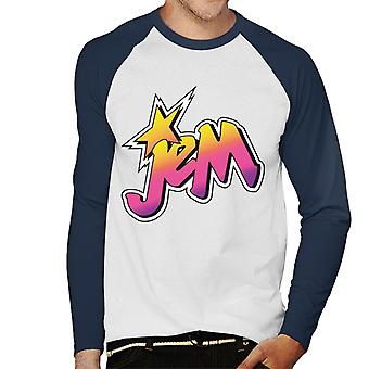 Jem And The Holograms Classic Faded Logo Men's Baseball Long Sleeved T-Shirt