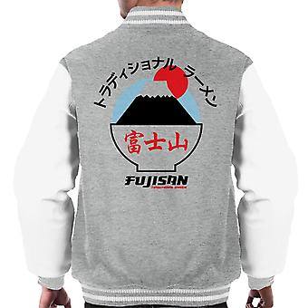 The Ramen Clothing Company Fujisan Traditional Ramen Black Text Men's Varsity Jacket