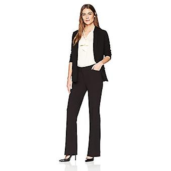Marque - Lark & Ro Women's Bootcut Pantalon Pantalon: Curvy Fit, Noir, 12S