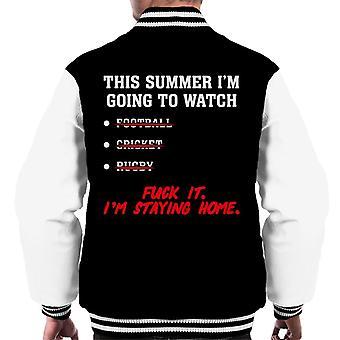 Cet été Im Going To Watch Sport Men-apos;s Varsity Jacket