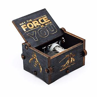 Star Wars Antiikki veistetty Cool Puinen Music Box