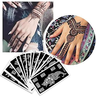 Fashion Diy Temporary Hand Tattoo, Body Art Sticker Template Stencils