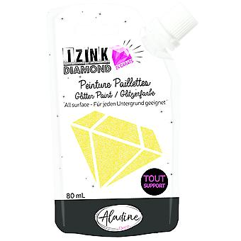 Aladine Izink Diamond Glitter Paint 24 karat gul 80ml